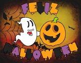Dibujo Feliz Halloween pintado por cuyito
