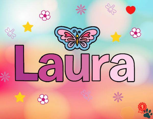Dibujo Laura pintado por cuyito