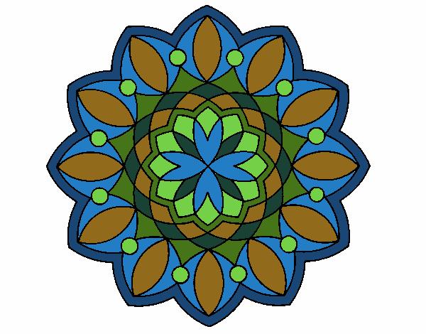 Dibujo Mandala 3 pintado por bonfi