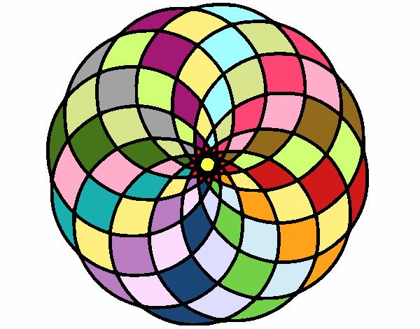 Dibujo Mandala 4 pintado por bonfi