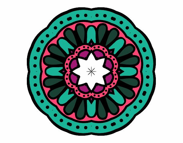 Dibujo Mandala mosaico pintado por bonfi