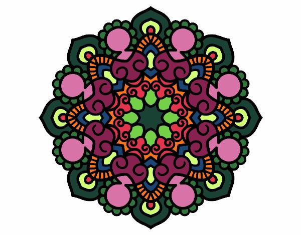 Dibujo Mandala reunión pintado por bonfi