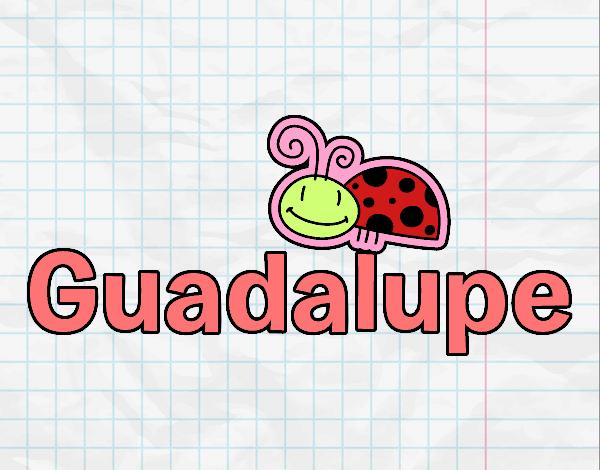 Dibujo Nombre Guadalupe pintado por gav007a