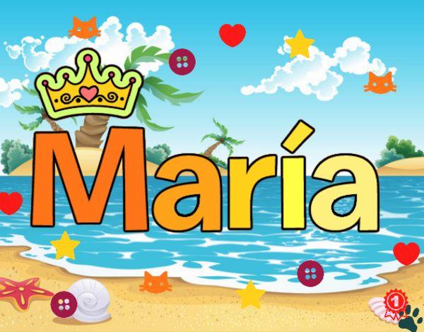 Dibujo Nombre Maria pintado por cuyito