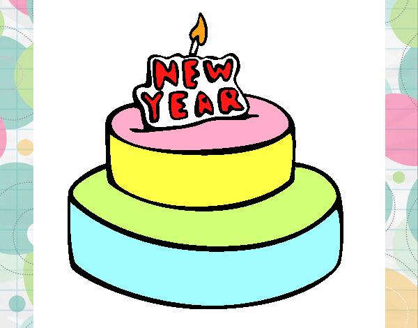 Pastel de año nuevo