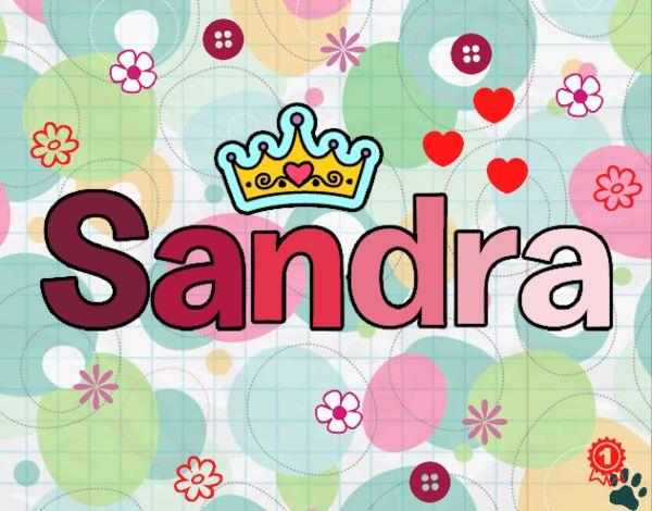 Dibujo Sandra pintado por cuyito