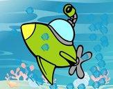 Submarino hacia la superficie