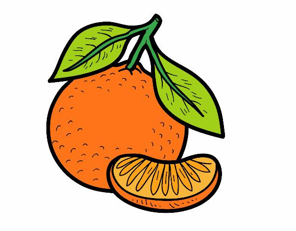 Dibujo Una mandarina pintado por albabm24