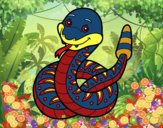Una serpiente de cascabel