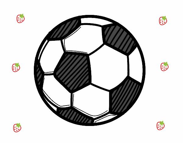 Dibujo De Jugador De Fútbol Con Balón Pintado Por Chicoxd: Dibujo De Balón De Fútbol Pintado Por En Dibujos.net El