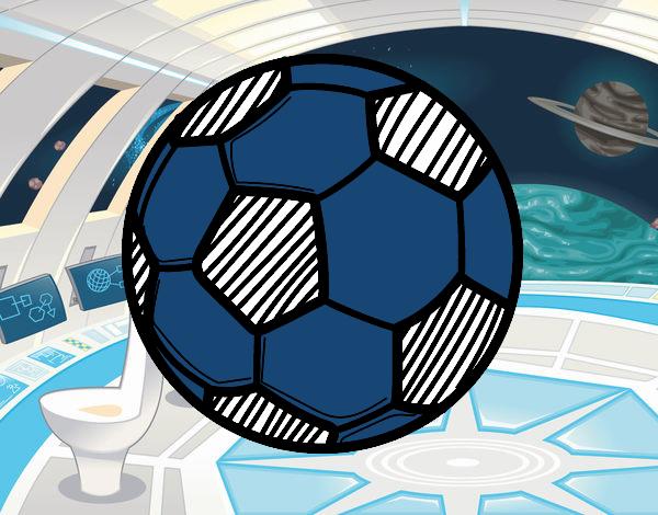 Dibujo De Jugador De Fútbol Con Balón Pintado Por En: Dibujo De Balón De Fútbol Pintado Por Mica635 En Dibujos