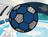 Dibujo Balón de fútbol pintado por mica635