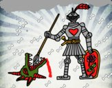 Dibujo Caballero San Jorge pintado por MARILUPELA