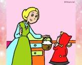 Dibujo Caperucita roja 2 pintado por yollenys