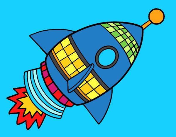 Cohete De Espacio De Dibujos