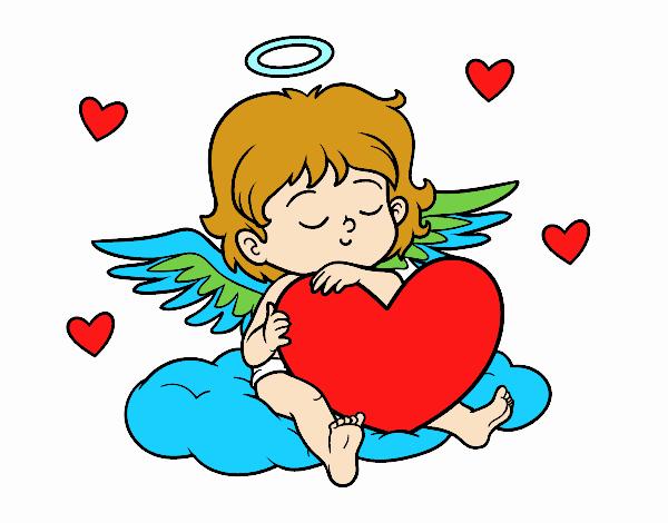 Dibujo Cupido con corazón pintado por elwaht