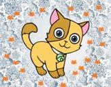 Dibujo Gato doméstico pintado por cutecat