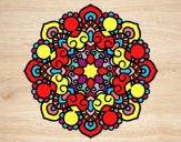 Dibujo Mandala reunión pintado por MasterWolf
