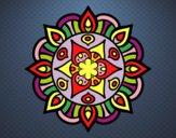 Dibujo Mandala vida vegetal pintado por MasterWolf