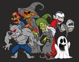 Dibujo Monstruos de Halloween pintado por polillaty