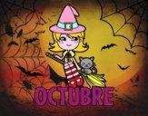 Dibujo Octubre pintado por Isadd1