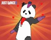 Dibujo Oso Panda Just Dance pintado por shaky123