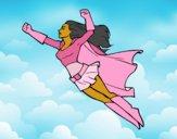 Súper chica volando