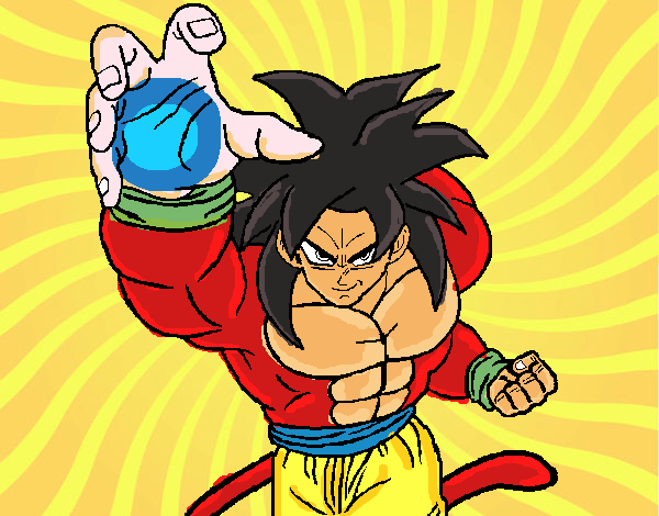 Dibujo De Goku Ssj4 Pintado Por En Dibujos.net El Día 21