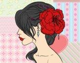 Dibujo Tocado  de novia con flor  pintado por mica635