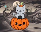 Dibujo Un gatito de Halloween pintado por sheyla1