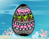Dibujo Un huevo de pascua decorado pintado por Betsabet