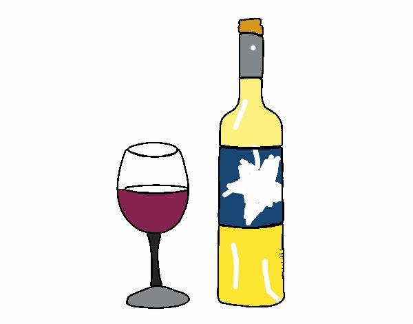 Ilustraciones Vectoriales De El Copa Botella Vino