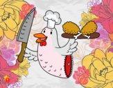Dibujo Carne de pollo pintado por AbrilLOLXD