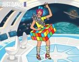 Dibujo Chica Just Dance pintado por juye