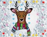 Dibujo Ciervo con bufanda pintado por AbrilLOLXD
