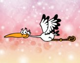 Dibujo Cigüeña volando pintado por carlosmedi