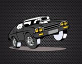 Dibujo Coche muscle car pintado por Joseito123