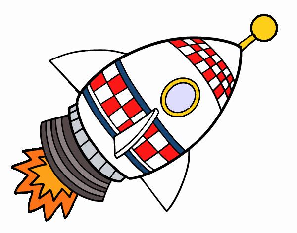 Dibujo de cohete espacial pintado por en el - Dibujos infantiles del espacio ...