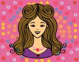 Dibujo Peinado con flequillo pintado por AbrilLOLXD