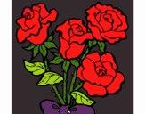Dibujo Ramo de rosas pintado por admy