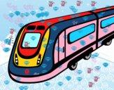 Dibujo Tren de alta velocidad pintado por mikalovich