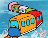 Dibujo Tren en camino pintado por mikalovich