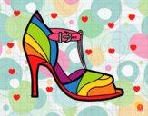 Dibujo Zapato de tacón con punta destapada pintado por AbrilLOLXD