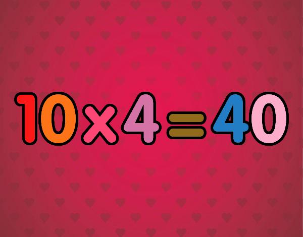 10 x 4