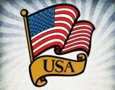 Dibujo Bandera de los Estados Unidos pintado por DEMATTEUZ