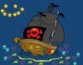 Dibujo Barco de piratas pintado por ferfcb