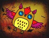 Búho de Halloween volador