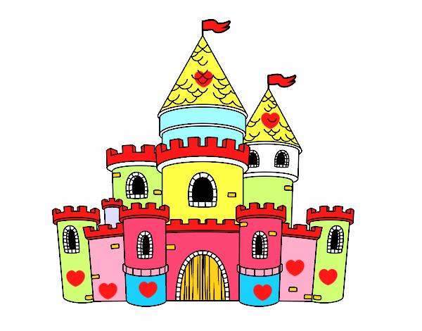 Dibujo De Castillo De Princesas Pintado Por Sc15 En Dibujosnet El