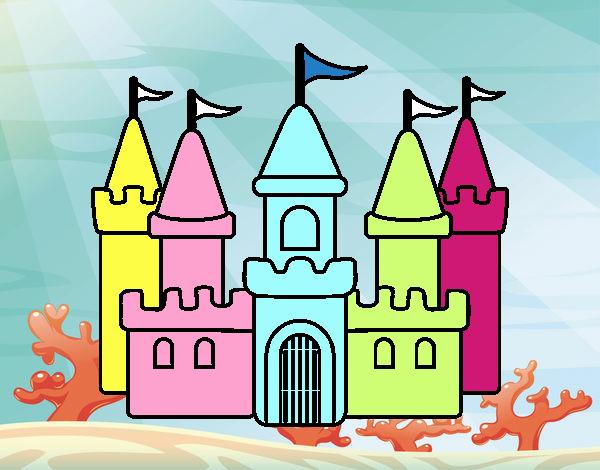 Dibujo Castillo fantástico pintado por popida