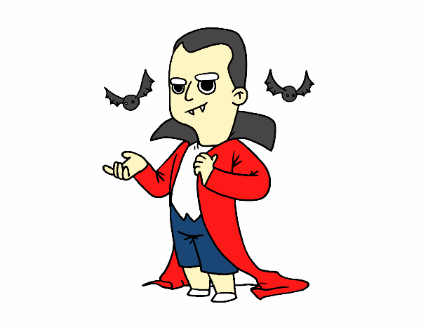Disfraz de vampiro de Halloween